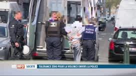 RTL INFO 13H : La circulaire de tolérance zéro pour la violence envers la police e...