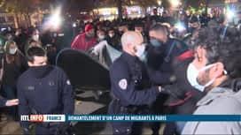 RTL INFO 13H : Un nouveau camp de migrants au coeur de Paris aussitôt démantelé