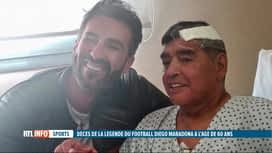 RTL INFO 19H : Décès de Diego Maradona à l'âge de 60 ans d'un arrêt cardiaque