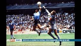 RTL INFO 19H : Décès de Diego Maradona: retour sur la vie agitée du joueur argentin