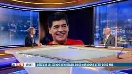 RTL INFO 19H : Décès de Diego Maradona: retour sur les liens entre le joueur et la...