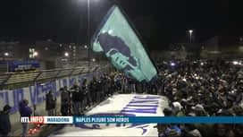 RTL INFO 13H : Décès de Diego Maradona: Naples rend hommage à son ancien joueur