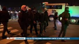 RTL INFO 13H : Coronavirus: une manifestation contre le couvre-feu a dégénéré à Liège
