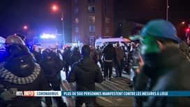 RTL INFO 19H : Coronavirus: une manifestation contre le couvre-feu a dégénéré à Liège