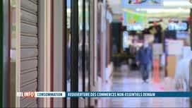 RTL INFO 13H : Coronavirus: les magasins se préparent pour leur réouverture mardi
