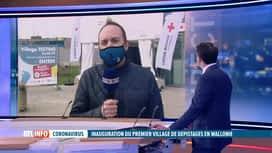 RTL INFO 13H : Coronavirus: la Wallonie inaugure son village de dépistage à Liège