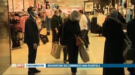 RTL INFO 13H : Coronavirus: les clients sont de retour dans les magasins dits non...