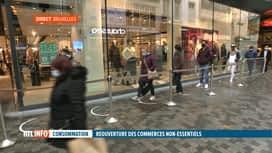 RTL INFO 13H : Coronavirus: la réouverture des commerces non-essentiels draine la...