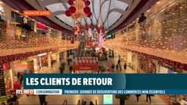 RTL INFO 19H : Coronavirus: les clients sont de retour dans les magasins dits non...