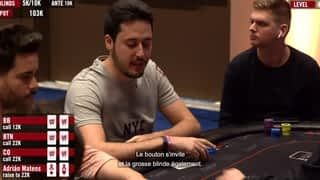 Adrián Mateos au Caribbean Poker Party 2019 - épisode 2