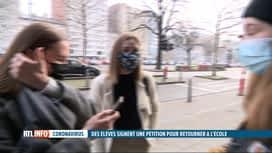 RTL INFO 13H : Des élèves de Waha lancent une pétition pour retourner à l'école