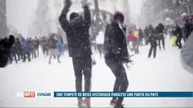 RTL INFO 13H : Tempête de neige en Espagne: dernière ligne droite pour déneiger av...