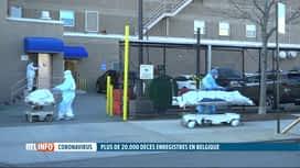 RTL INFO 19H : Coronavirus: la Belgique passe le cap des 20 000 décès