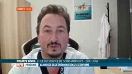 RTL INFO 13H : Coronavirus: légère hausse des hospitalisations en province de Liège