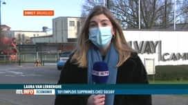 RTL INFO 13H : Annonce de suppressions d'emplois partout dans le monde par Solvay