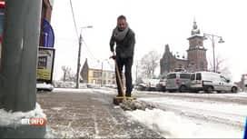 RTL INFO 13H : La neige a fait son retour sur une partie de la Belgique