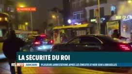 RTL INFO 19H : La voiture du roi Philippe prise pour cible par les émeutiers bruxe...