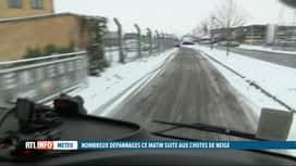 RTL INFO 13H : Nouvelle matinée sous la neige pour une bonne partie des Belges