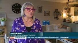 RTL INFO 13H : Christine arnaquée de plus de 10.000€ via le Market Place de Facebook