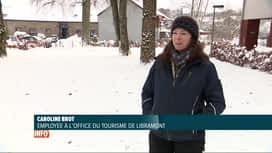 RTL INFO 13H : Neige: Libramont prépare la venue des touristes ce week-end