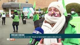 RTL INFO 13H : Manifestation du secteur non-marchand à Bruxelles ce matin