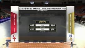 Svjetsko prvenstvo u rukometu 2021. - GRUPA C : QAT - ANG / Katar - Angola - 1. poluvrijeme