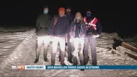 RTL INFO 19H : Perdu dans les Fagnes, un couple de Bruxellois a été surpris par la...