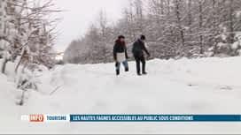 RTL INFO 19H : Neige: les Fagnes seront à nouveau accessibles au public ce week-end