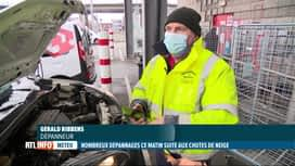 RTL INFO 19H : Neige: les dépanneurs n'ont pas chômé ce matin, exemple à Charleroi