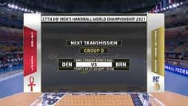 Svjetsko prvenstvo u rukometu 2021. - GRUPA D : DEN - BHR / Danska - Bahrein
