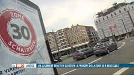 RTL INFO 13H : Le principe de la zone 30 à Bruxelles remis en question par un juge...