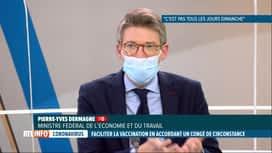 RTL INFO 19H : Projet d'accorder un congé aux travailleurs pour se faire vacciner