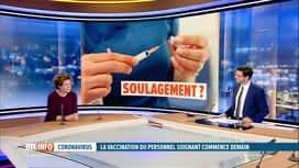 RTL INFO 19H : L'avis de Charlotte Martin à propos de la vaccination dans les hôpi...