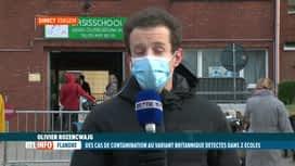 RTL INFO 13H : Coronavirus: deux écoles fermées en Flandre suite au variant britan...