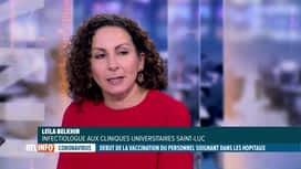 RTL INFO 19H : Coronavirus: Leila Belkhir, infectiologue, fait le point sur le vaccin
