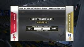 Svjetsko prvenstvo u rukometu 2021. - SKUPINA 3 : ISL - NOR / Island - Norveška - 1. poluvrijeme