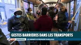 RTL INFO 19H : Coronavirus: les transports en commun, des lieux de contamination?