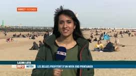 RTL INFO 13H : La météo printanière pousse de nombreux Belges vers la Mer du Nord