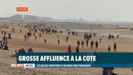 RTL INFO 19H : De très nombreux belges ont profité du soleil à la Mer du Nord ce s...