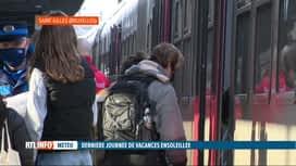 RTL INFO 19H : Nouvelle journée d'affluence dans les gares de la SNCB