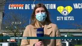RTL INFO 13H : Coronavirus: les centres de vaccination tournent au ralenti