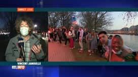 RTL INFO 19H : Coronavirus: des centaines de jeunes se rassemblent à Liège