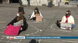 RTL INFO 13H : Coronavirus: les étudiants affichent leur ras-le-bol