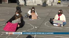 RTL INFO 19H : Coronavirus: les étudiants affichent leur ras-le-bol