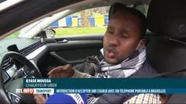 RTL INFO 13H : Les chauffeurs Uber ne peuvent plus utiliser leur smartphone à Brux...