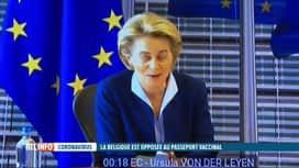 RTL INFO 13H : Coronavirus: l'UE veut proposer une sorte de passeport vaccinal pou...