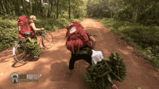 Grosse galère à vélo pour Crisoula et Jenny