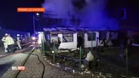 RTL INFO 13H : Une maison détruite par une explosion au gaz à Frasnes-lez-Gosselies