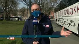 RTL INFO 13H : Covid-19: action des autocaristes devant le parlement wallon