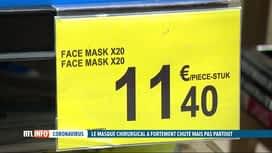RTL INFO 13H : Covid-19: enquête sur le prix actuel des masques de protection